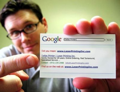 cartões de visita google inspired