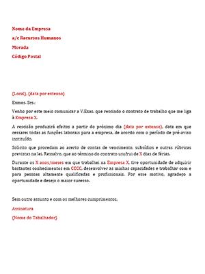 Carta de rescisão_post
