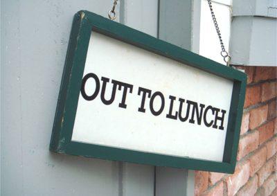 hora de almoço