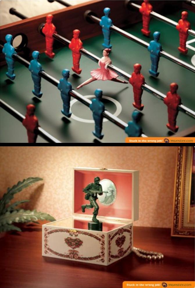 anúncios de emprego criativos