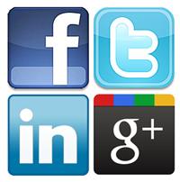 social-media-icon-set anúncio de emprego social