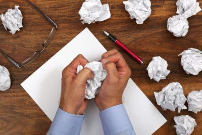 carta de apresentação erros