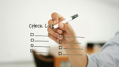 Carta de apresentação checklist