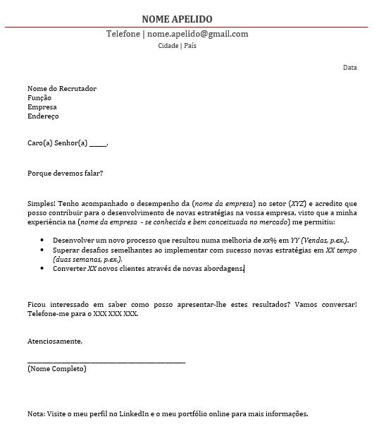 carta de apresenta u00e7 u00e3o