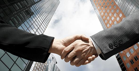 Negócios como dar apertos de mão com confiança