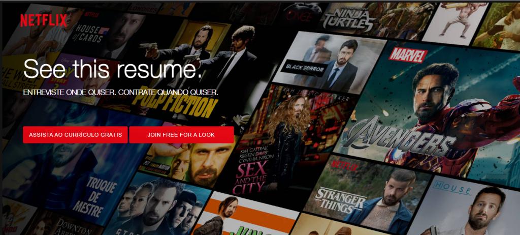 """Publicitário cria """"currículo Netflix"""" para se candidatar à empresa"""