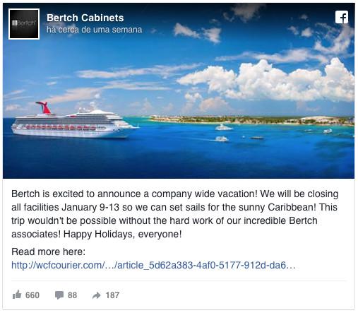 Patrão fecha empresa para levar 800 funcionários às Caraíbas