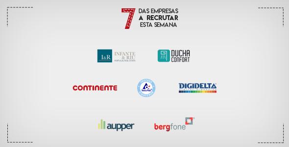 7 Empresas a Recrutar em Portugal esta semana