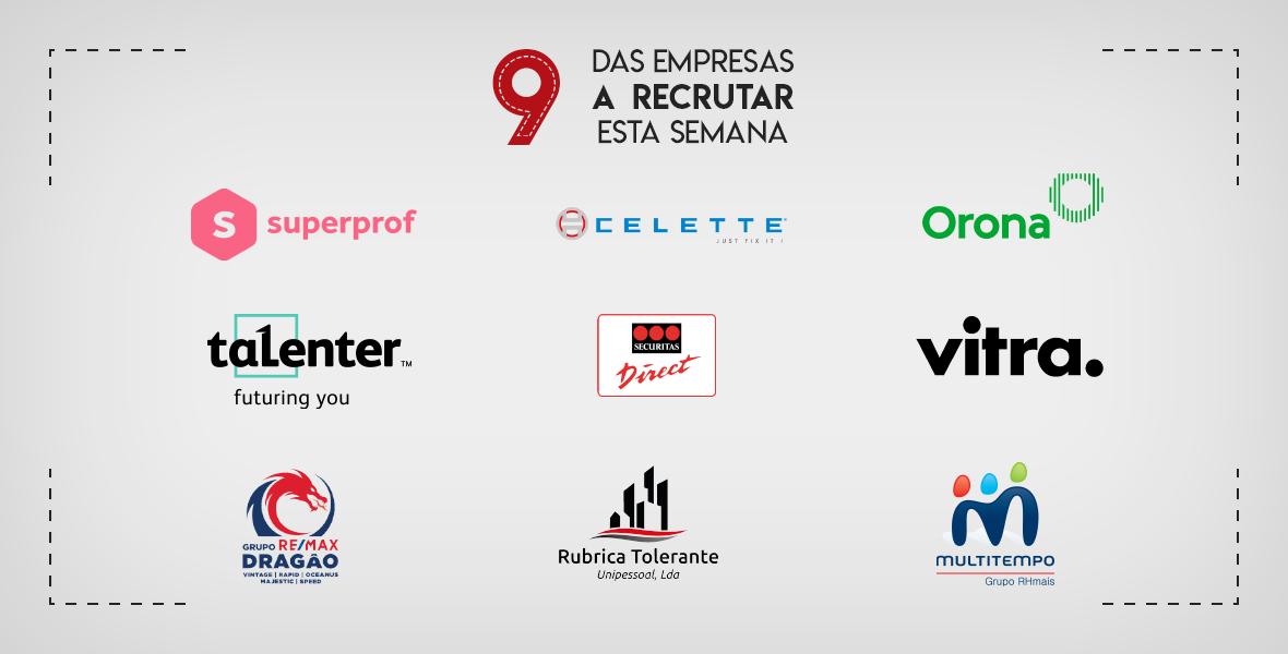 9 Empresas a Recrutar em Portugal esta semana