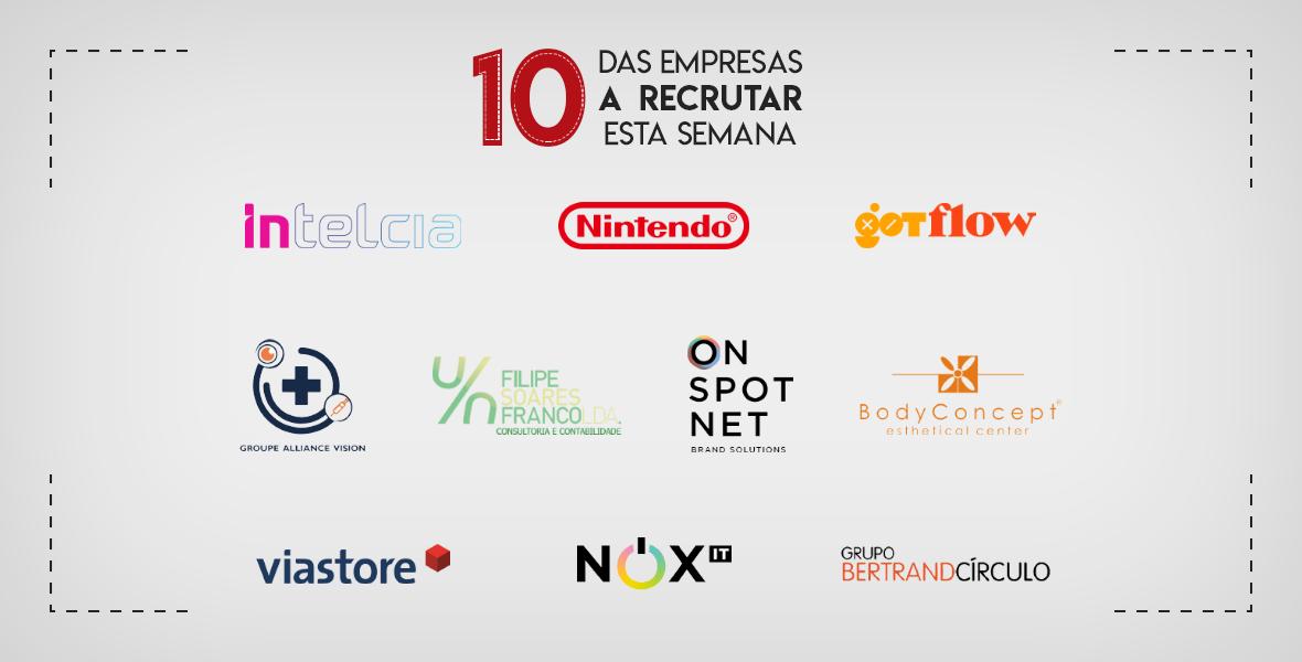 10 Empresas a Recrutar esta semana Portugal