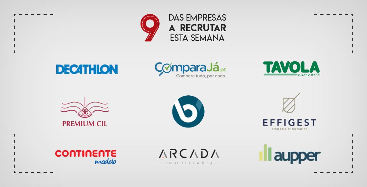 9 Empresas a Recrutar esta semana em Portugal