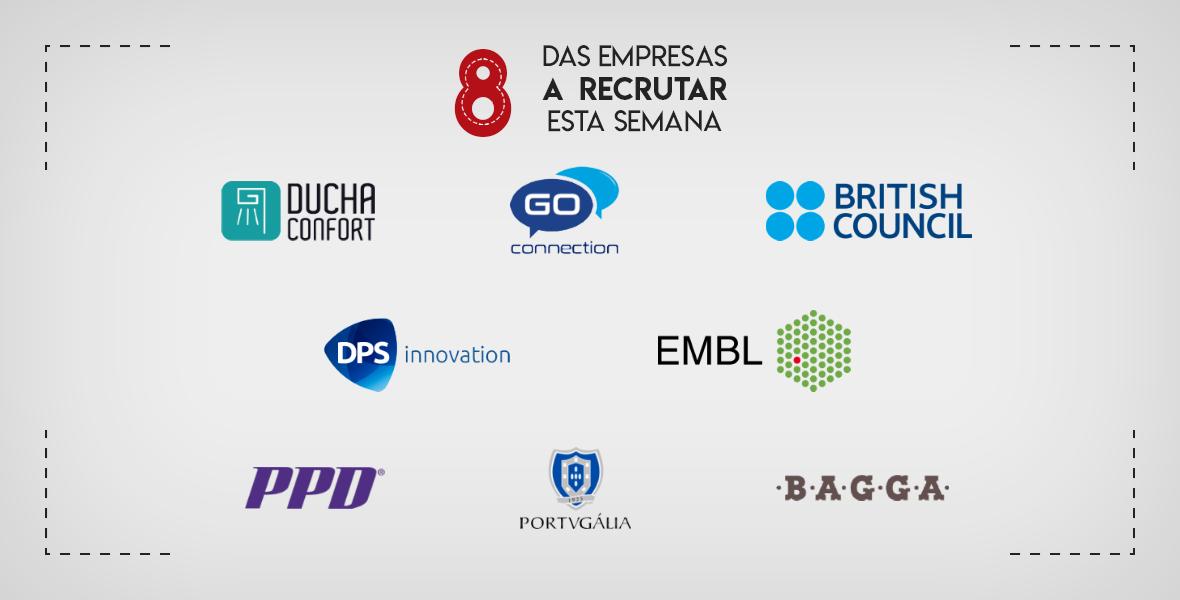 8 Empresas a Recrutar em Portugal esta semana