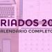 Feriados 2019: calendário completo