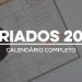 Feriados 2020: calendário completo